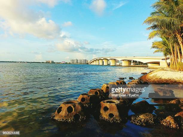 bridge over river - sarasota stock photos and pictures