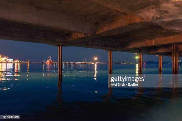 Bridge Over Sea At Night