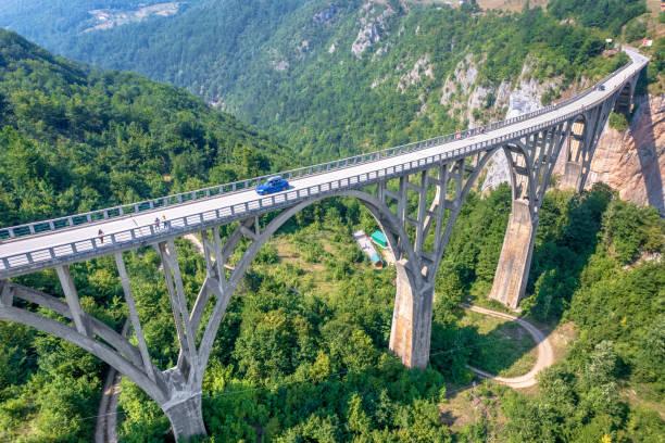 Bridge over Tara river canyon, Durmitor National Park, Montenegro