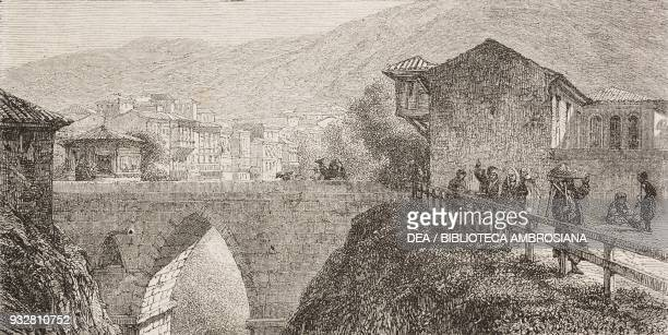 Bridge over the GheukSu river Bursa Turkey from Voyage from Constantinople to Ephesus through Asia Minor Bithynia Phrygia Lydia Ionia by Count...