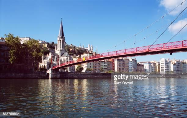 Bridge over The Rhone in Lyon