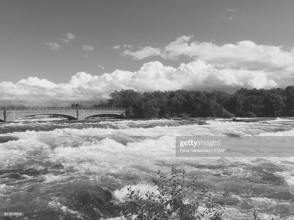 Bridge over the river : Stock Photo