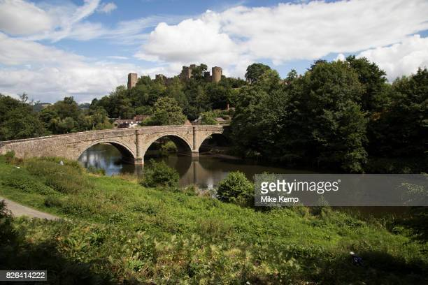 Bridge over the River Teme towards Ludlow Castle in Ludlow United Kingdom Ludlow is a market town in Shropshire England With a population of...
