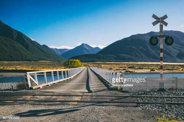 Bridge Over The Waimakariri In Arthur's Pass, New Zealand