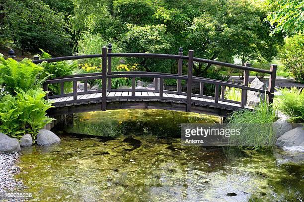 Bridge over water pond