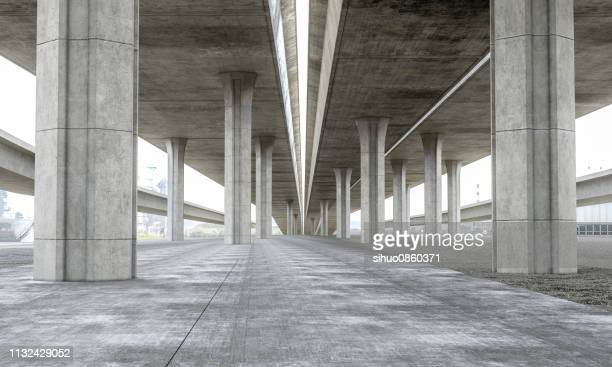 bridge parking lot modern concrete background stage - built structure stock pictures, royalty-free photos & images