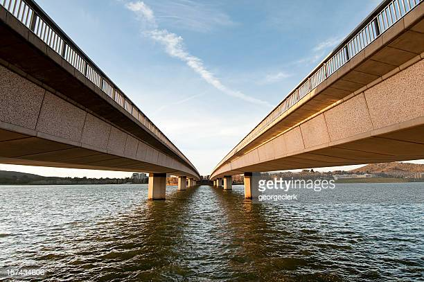 bridge perspective - two objects stock photos and pictures