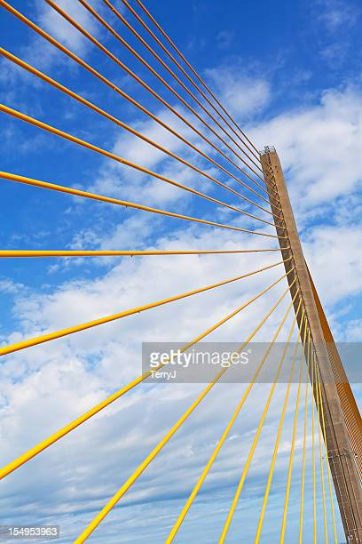 bridge - sunshine skyway bridge stock photos and pictures