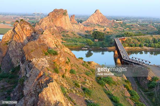 bridge - punjab pakistan stock photos and pictures