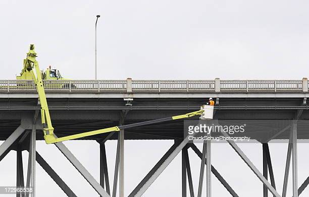 Bridge Safety Inspection Worker Construction Equipment