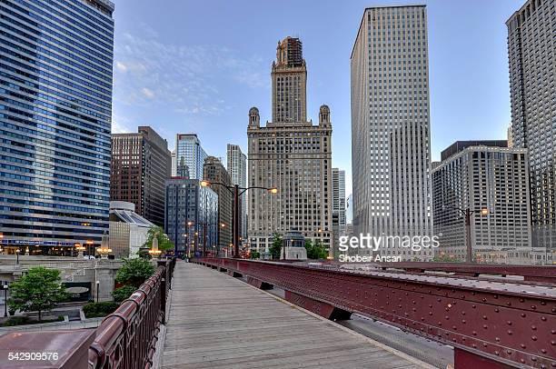 Bridge Sidewalk in Downtown Chicago