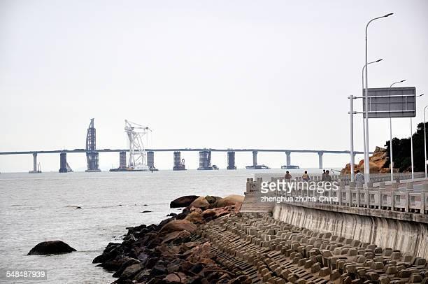 HZM bridge sit in Zhuhai China