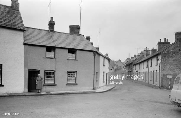 Bridge Street in Crickhowell, Powys, Wales, 1964.