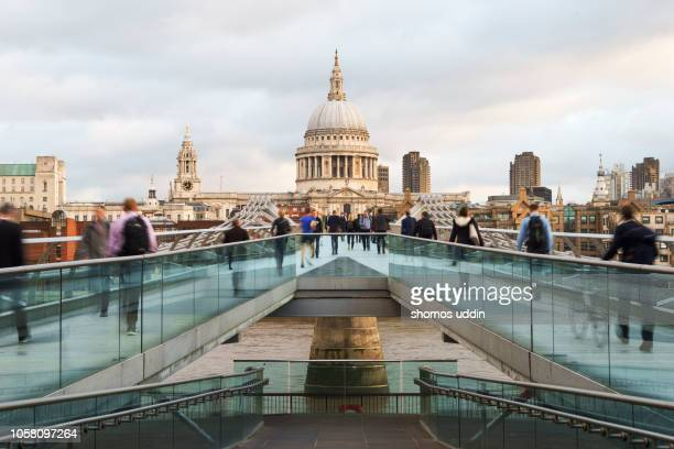 bridge to the city - old london stock photos and pictures