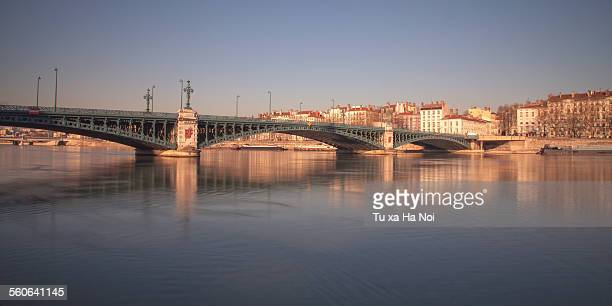 bridge university, rhone river in lyon - rhone stock pictures, royalty-free photos & images