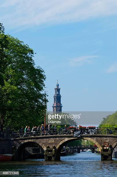 bridges across a canal in amsterdam, holland. - ogphoto bildbanksfoton och bilder