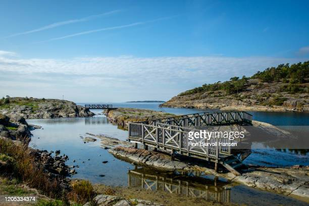 bridges at krogshavn in langesund - finn bjurvoll stock pictures, royalty-free photos & images