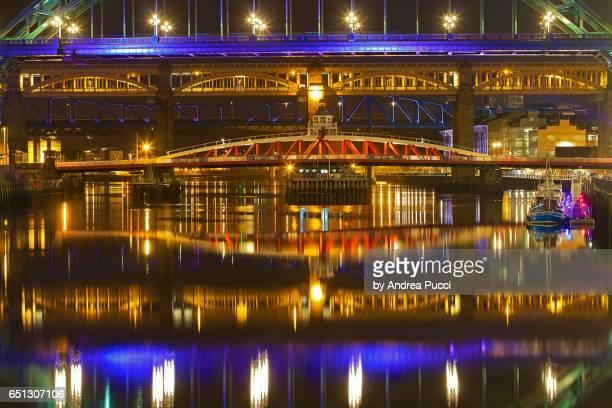 bridges, newcastle-upon-tyne, tyneside, united kingdom - newcastle united pictures stock pictures, royalty-free photos & images