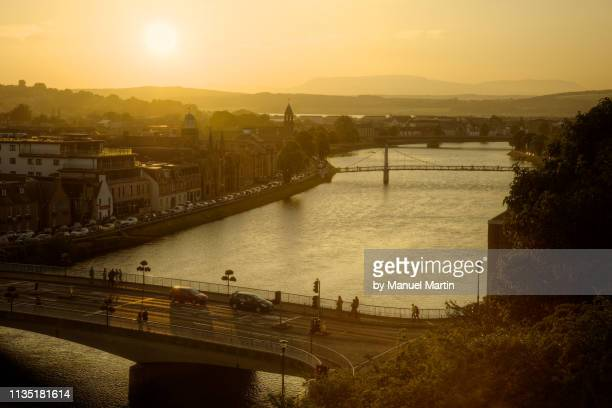 bridges of inverness - inverness scotland stock pictures, royalty-free photos & images