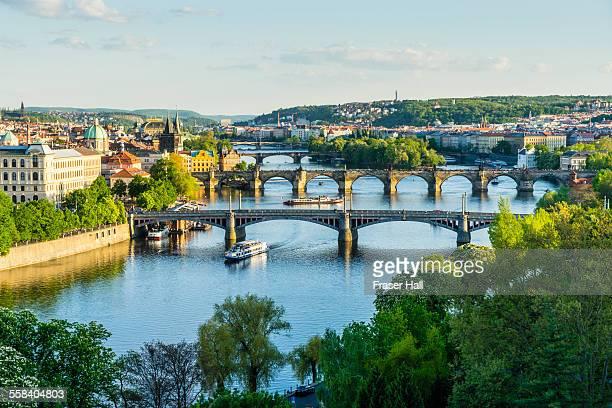 bridges of prague - プラハ ストックフォトと画像