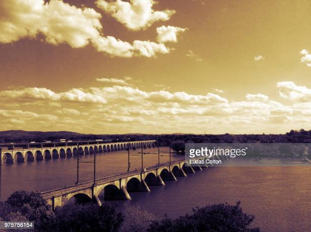 Bridges over Susquehanna river, Harrisburg, Pennsylvania State, USA