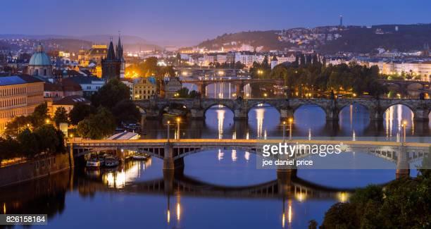 Bridges over Vltava River, Prague, Czechia