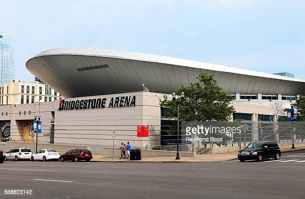 Bridgestone Arena home of the Nashville Predators hockey team in downtown Nashville Tennessee on May 25 2016