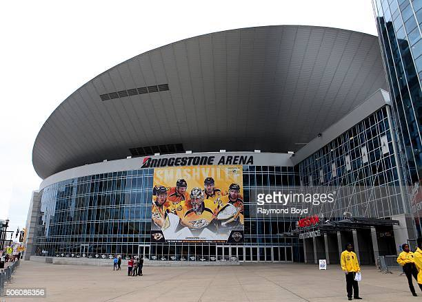 Bridgestone Arena home of the Nashville Predators hockey team on December 30 2015 in Nashville Tennessee
