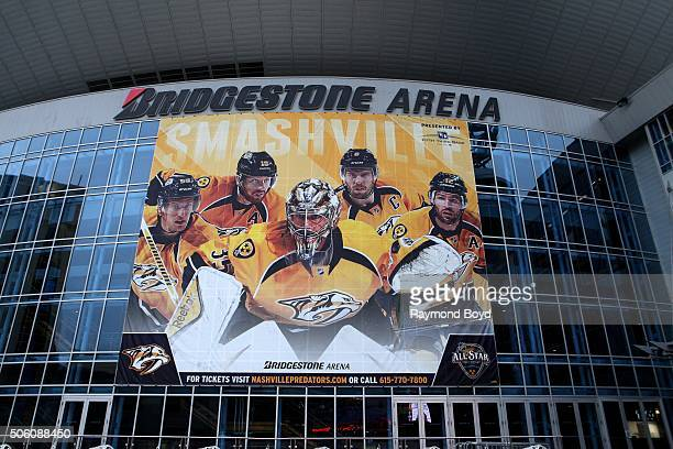 Bridgestone Arena home of the Nashville Predators hockey team on December 31 2015 in Nashville Tennessee