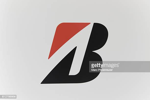 Bridgestone logo at the 2016 Intermot trade fair on October 5 2016 in Cologne Germany Intermot is the worlds secondlargest motorcycle trade fair and...