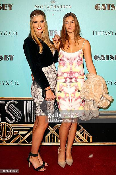 Bridget Abbott and Frances Abbott attend the 'Great Gatsby' Australian premiere at Moore Park on May 22 2013 in Sydney Australia