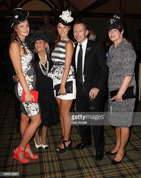 Bridget Abbott Lillian Frank Francis Abbott Tony Abbott and Marg Abbott attend the XXX marquee on Derby Day at Flemington Racecourse on November 3...
