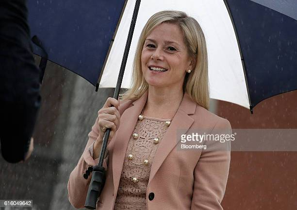 Bridget Anne Kelly former deputy chief of staff for New Jersey Governor Chris Christie arrives at federal court in Newark New Jersey US on Friday Oct...