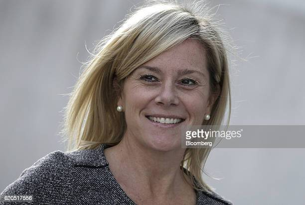 Bridget Anne Kelly former deputy chief of staff for New Jersey Governor Chris Christie smiles as she arrives at the Martin Luther King Jr Federal...
