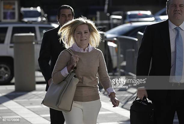 Bridget Anne Kelly former deputy chief of staff for New Jersey Governor Chris Christie arrives at federal court in Newark New Jersey US on Friday Nov...