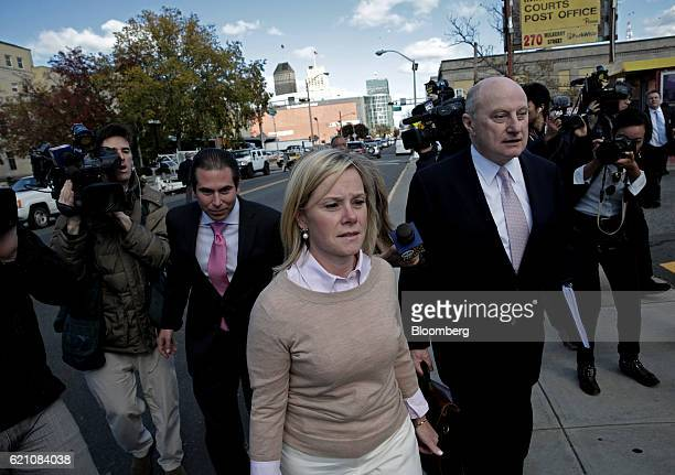 Bridget Anne Kelly former deputy chief of staff for New Jersey Governor Chris Christie left exits federal court with attorney Michael Critchley in...