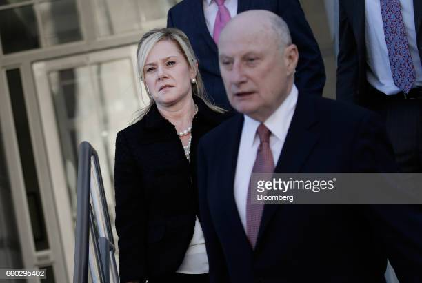 Bridget Anne Kelly former deputy chief of staff for New Jersey Governor Chris Christie left exits federal court after sentencing in Newark New Jersey...