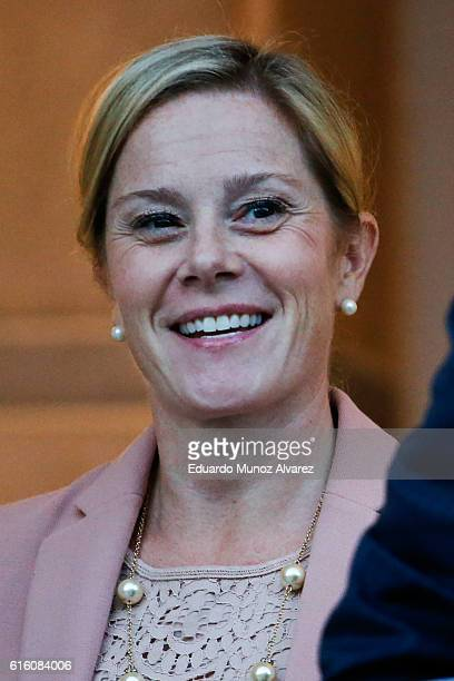 Bridget Anne Kelly former deputy chief of staff to New Jersey Gov Chris Christie smiles as she exits court after testifying in the Bridgegate trial...