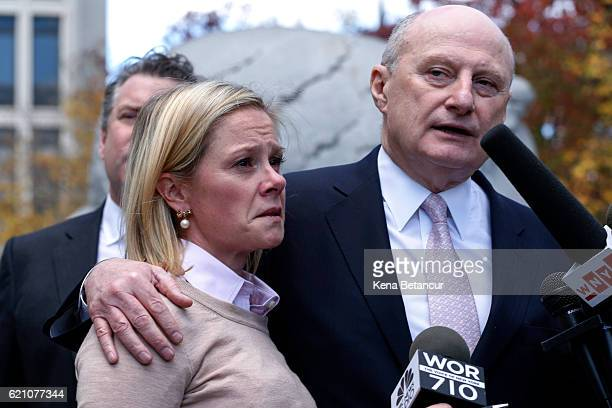 Bridget Anne Kelly former deputy chief of staff to New Jersey Gov Chris Christie reacts after she was found guilty in the Bridgegate trial while her...