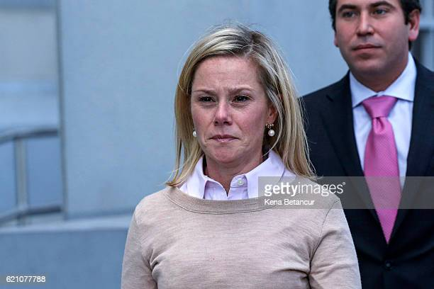 Bridget Anne Kelly former deputy chief of staff to New Jersey Gov Chris Christie reacts after she was found guilty in the Bridgegate trial at the...