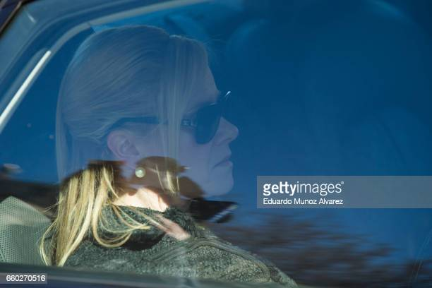 Bridget Anne Kelly former deputy chief of staff to New Jersey Gov Chris Christie is seen inside her car after leaving the Martin Luther King Jr...