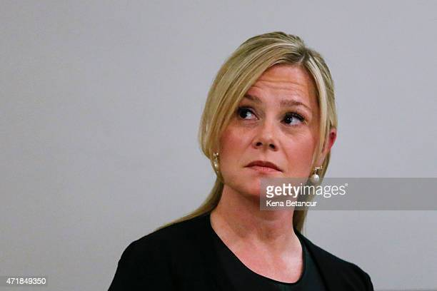 Bridget Anne Kelly Governor Christie's former deputy chief of staff attends a press conference in Eisenhower Conference Center May 1 2015 in...