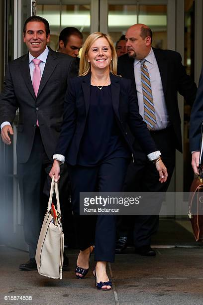 Bridget Anne Kelly the former deputy chief of staff to New Jersey Gov Chris Christie leaves after attending the Bridgegate trial at the Martin Luther...