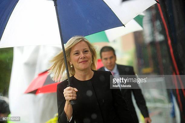 Bridget Anne Kelly the former Deputy Chief of Staff to New Jersey Governor Chris Christie arrives at the Martin Luther King Jr Federal Courthouse...