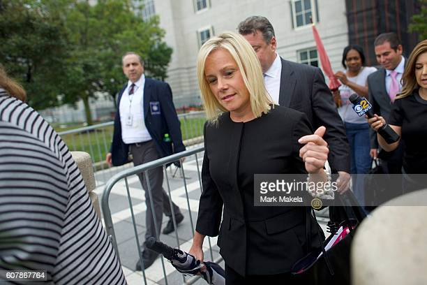 Bridget Anne Kelly the former Deputy Chief of Staff to New Jersey Governor Chris Christie departs the Martin Luther King Jr Federal Courthouse after...