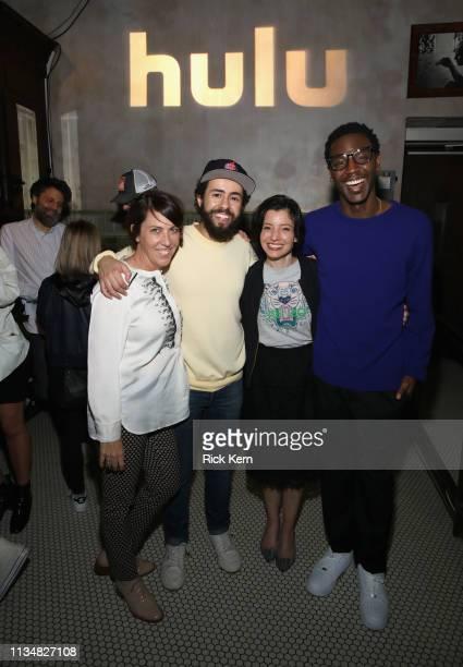 Bridget Bedard Ramy Youssef Head of Originals at Hulu Beatrice Springborn and Jerrod Carmichael attend the reception following the 2019 SXSW World...