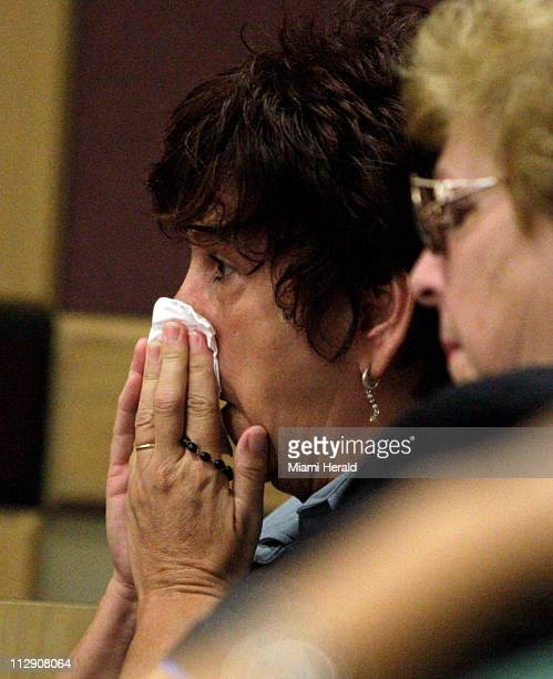 Bridget Daugherty mother of Thomas Daugherty weeps as her son was convicted of seconddegree murder in the beating death of Norris Gaynor in 2006 in...