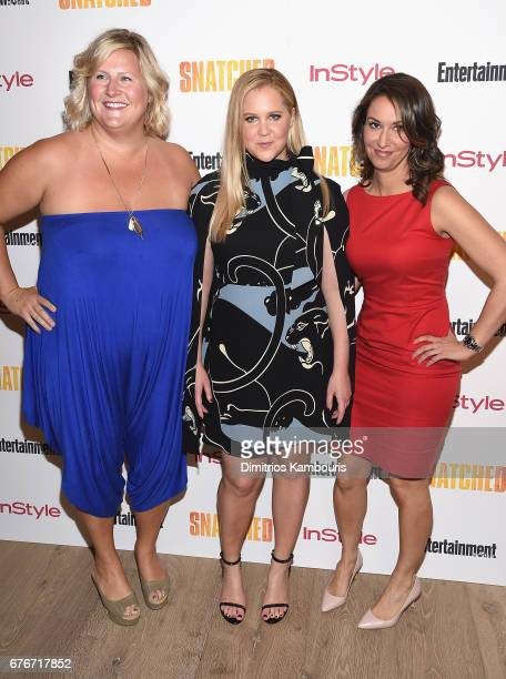"""Bridget Everett, Amy Schumer and guest attend the """"Snatched"""" New York Premiere at the Whitby Hotel on May 2, 2017 in New York City."""