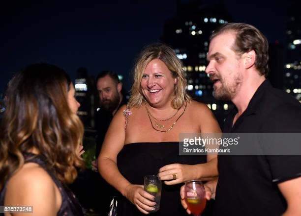Bridget Everett and David Harbour attend the screening Of Fun Mom Dinner at Landmark Sunshine Cinema on August 1 2017 in New York City