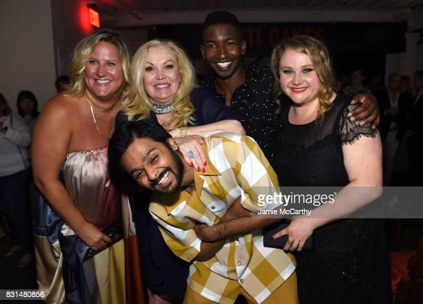 Bridget Everett Cathy Moriarty Siddharth Dhananjay Mamoudou Athie and Danielle Macdonald attend 'Patti Cake$' New York After Party at The Metrograph...